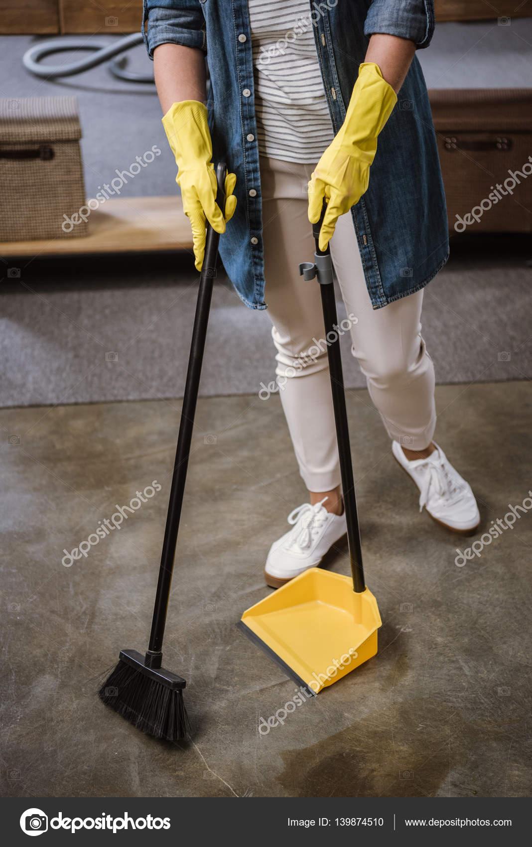Woman Sweeping Floor Stock Photo 169 Arturverkhovetskiy