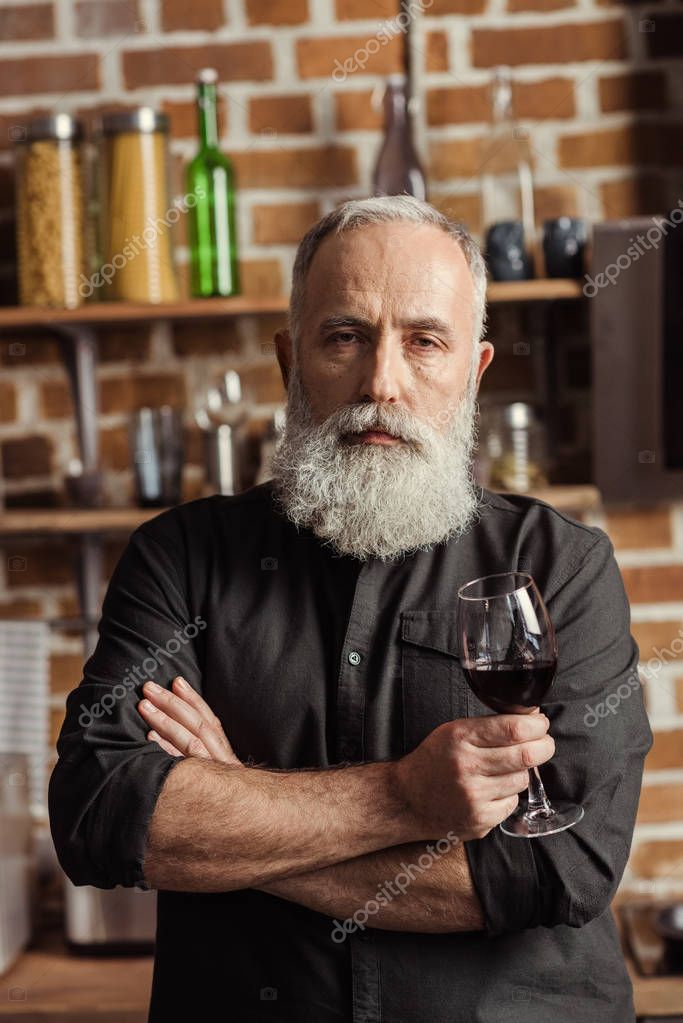 Confident senior man