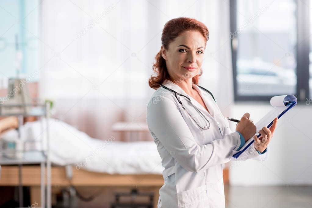 Female doctor in hospital