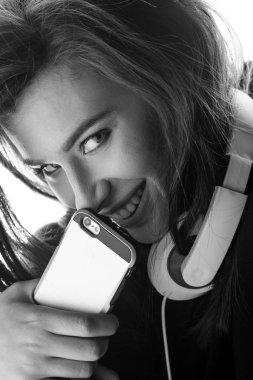 stylish Woman using smartphone