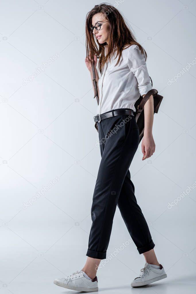 Stylish hipster woman