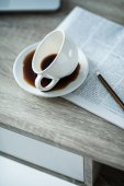 cup of coffee and newspaper