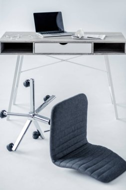 laptop on office table