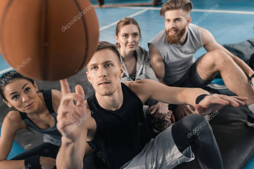 Sporty young people
