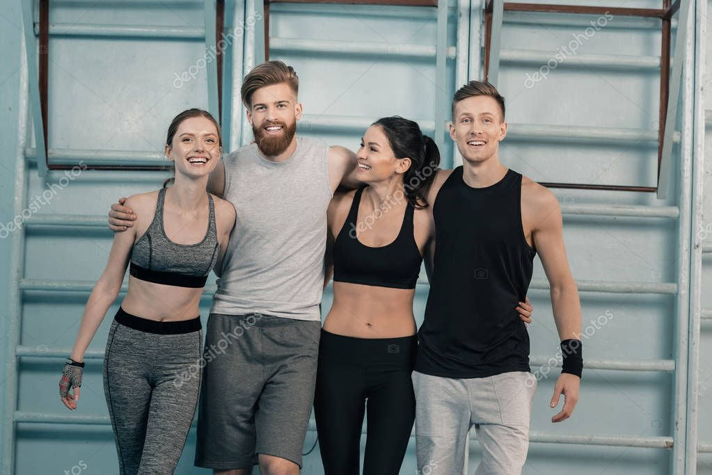 sporty men and women