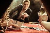 Fotografie Žena hrající poker
