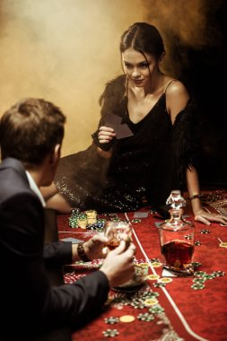 Couple playing poker