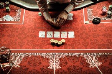 Croupier dealing card