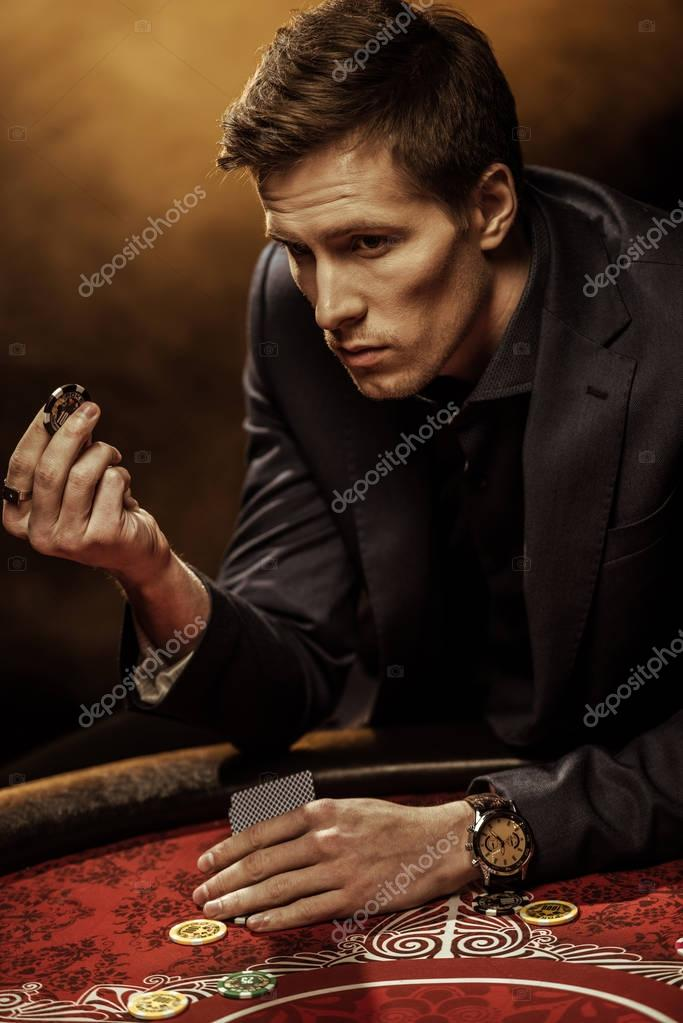 Man playing poker