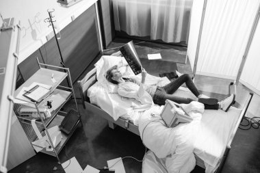 young doctor in hospital