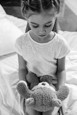 Little girl in hospital
