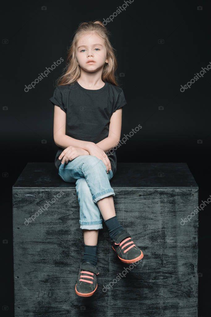 stylish adorable girl