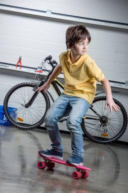 Boy with penny board