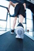 Fotografie Ältere Sportler im Fitness-Studio