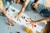 Děti Malování s rukama
