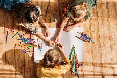 cute kids drawing