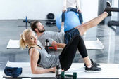 Fotografie Menschen Turnen im Fitness-studio
