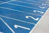 Fotografia numerazione della pista di atletica