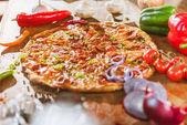 Fotografie Italská pizza s feferonkami