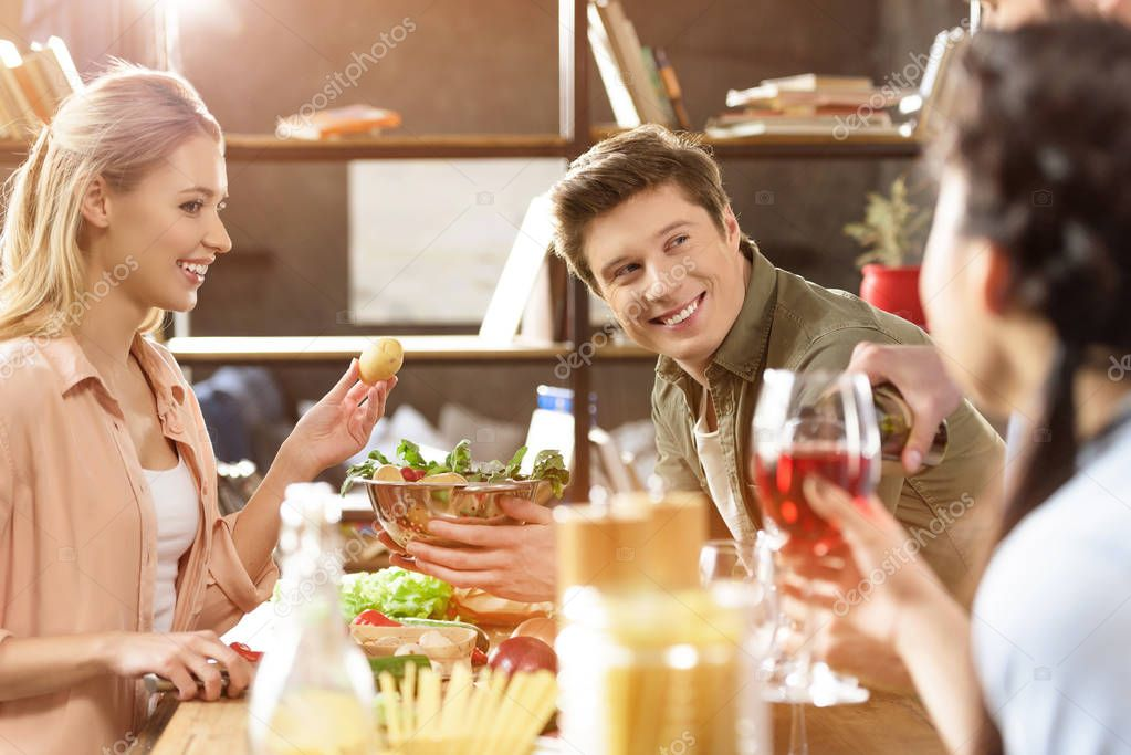 young people partying at home