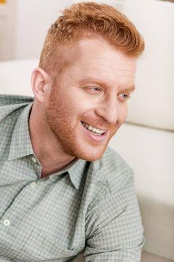 happy redhead man