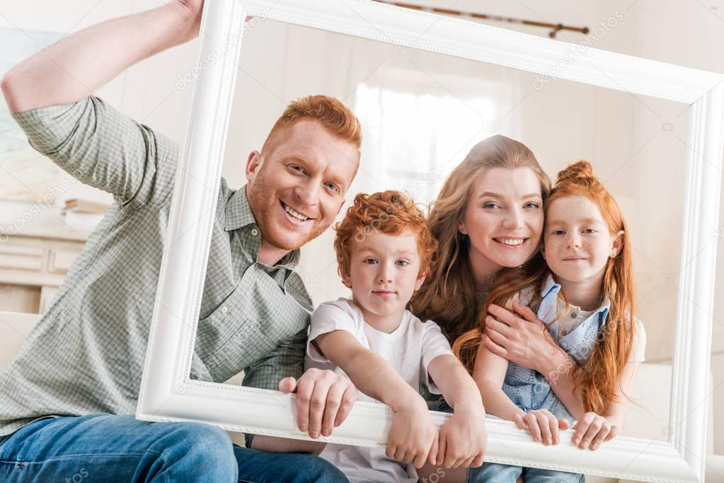 beautiful redhead family