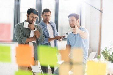 casual businessmen working at office