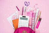 Photo various school supplies