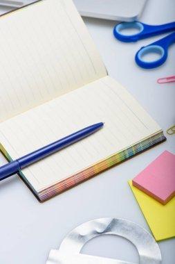 copybook and school supplies