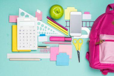 various school supplies