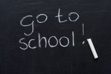 phrase go to school with piece of chalk