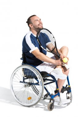 Tennis player in wheelchair