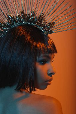 african american girl in gorgeous headpiece