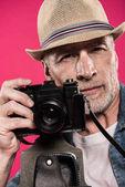 Fényképek Retro fényképezőgép férfi