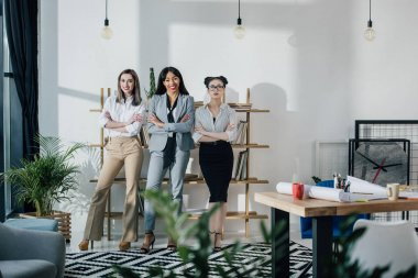 Young businesswomen in office