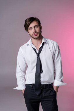 young stylish man in formal wear