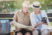 Fotografie Senior couple with map