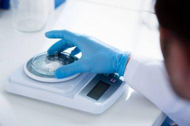 Scientist during work at modern laboratory