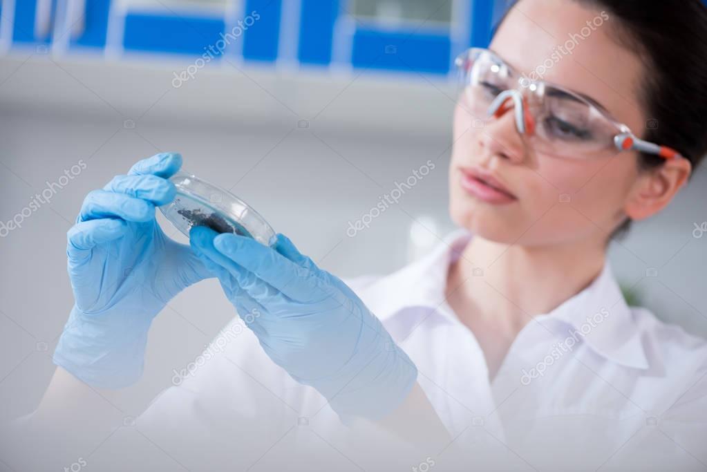 Female scientist at laboratory