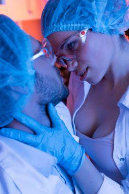 Scientists having office romance