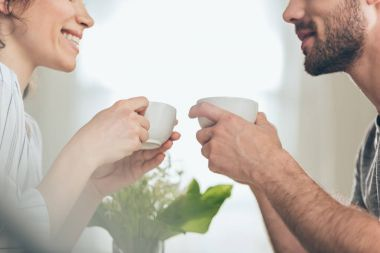 Young couple drinking coffee