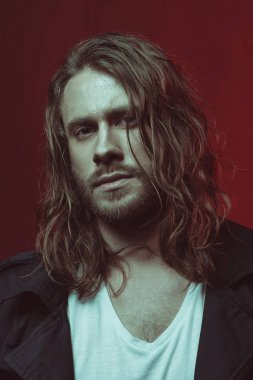 young long haired man
