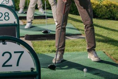 Golfers playing golf
