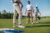 profesionální golfisté, mluví na zelené hřiště
