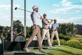 Golfer beim Golfen