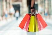 Fotografie muž hospodářství nákupní tašky