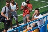 Fotografie multikulturní fotbalový tým