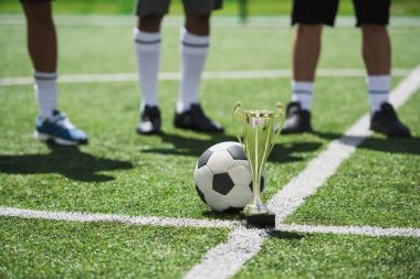 goblet and soccer ball