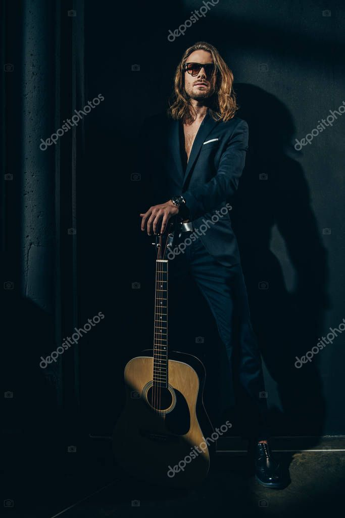 Stylish man with guitar