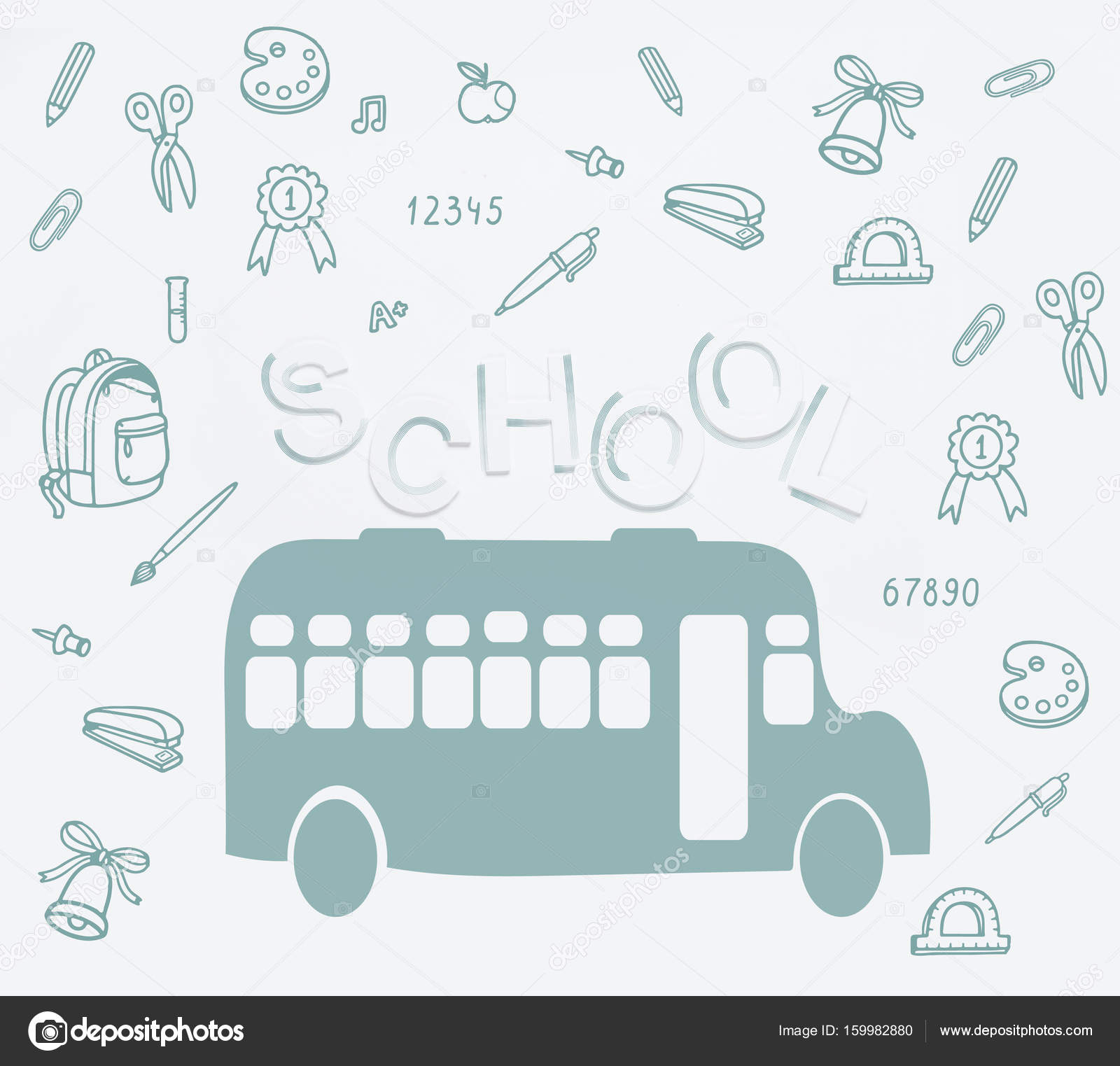 School Bus And Lettering Stock Photo C Arturverkhovetskiy 159982880